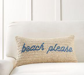 Beach Please Lumbar Cushion Cover