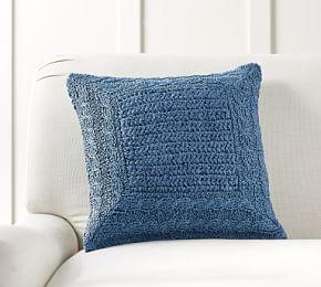 Border Paper Knit Cushion Cover