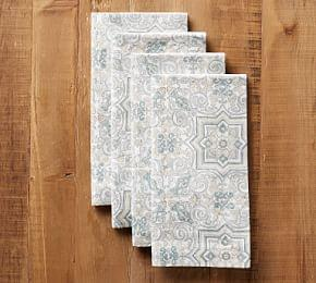 Block Print Tile Napkin - Neutral