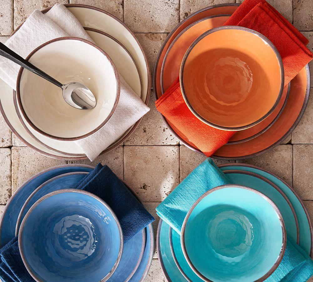 Swirl Melamine Dinner Plate Blue Pottery Barn Au