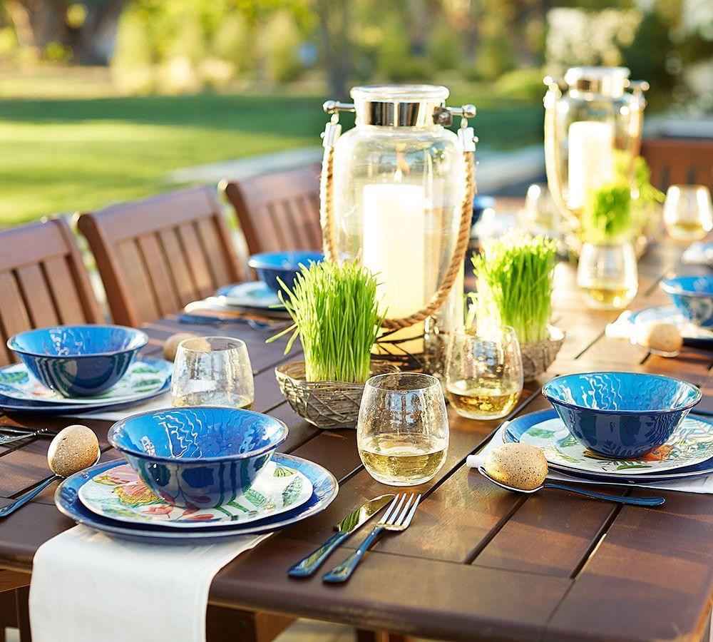 Swirl Melamine Dinner Plate - Blue