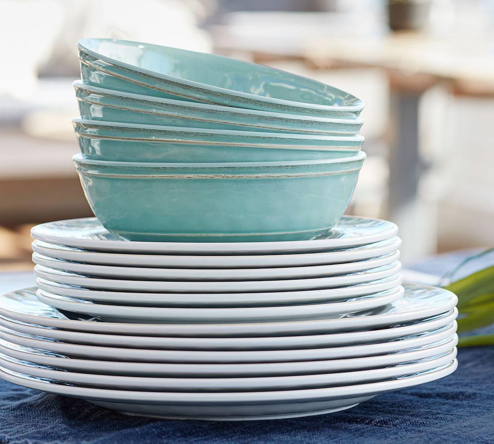 Cabana Melamine Dinner Plate - Stone