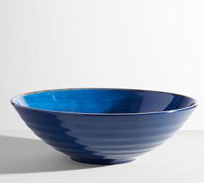 Swirl Melamine Large Serve Bowl - Indigo