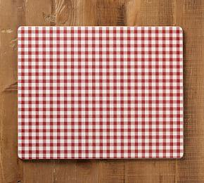 Gingham Corkmat - Red