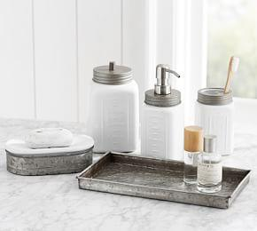 Galvanised Ceramic Bath Accessories