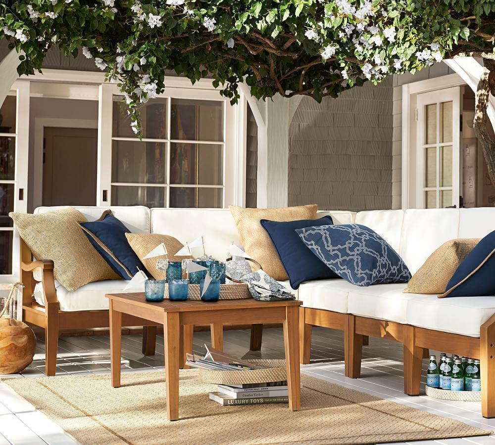 Faux Natural-Fibre Indoor/Outdoor Cushion