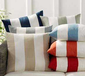 PB Classic Stripe Indoor/Outdoor Cushion