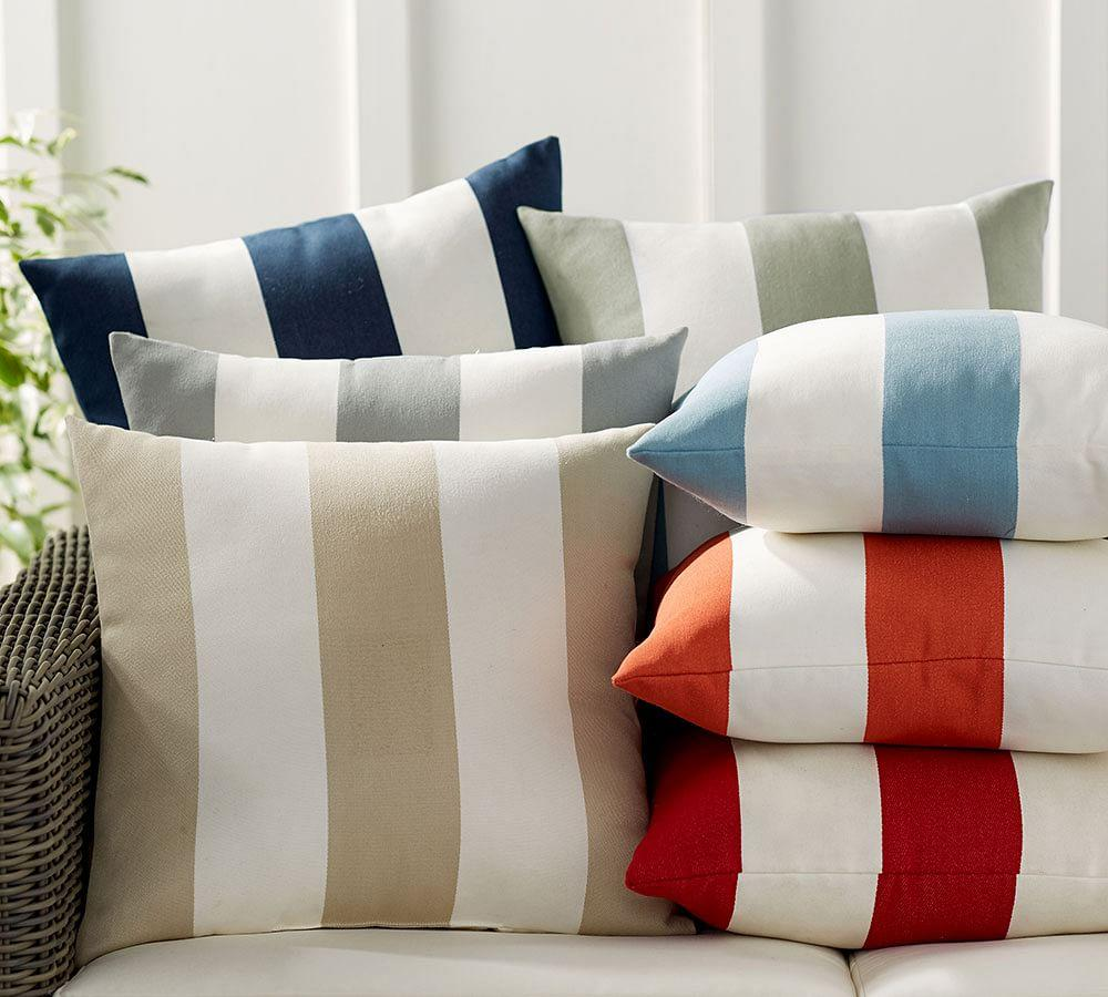 Pb Classic Stripe Indoor Outdoor Cushion Pottery Barn Au