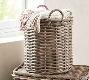 Aubrey Woven Oversized Basket Pottery Barn Au