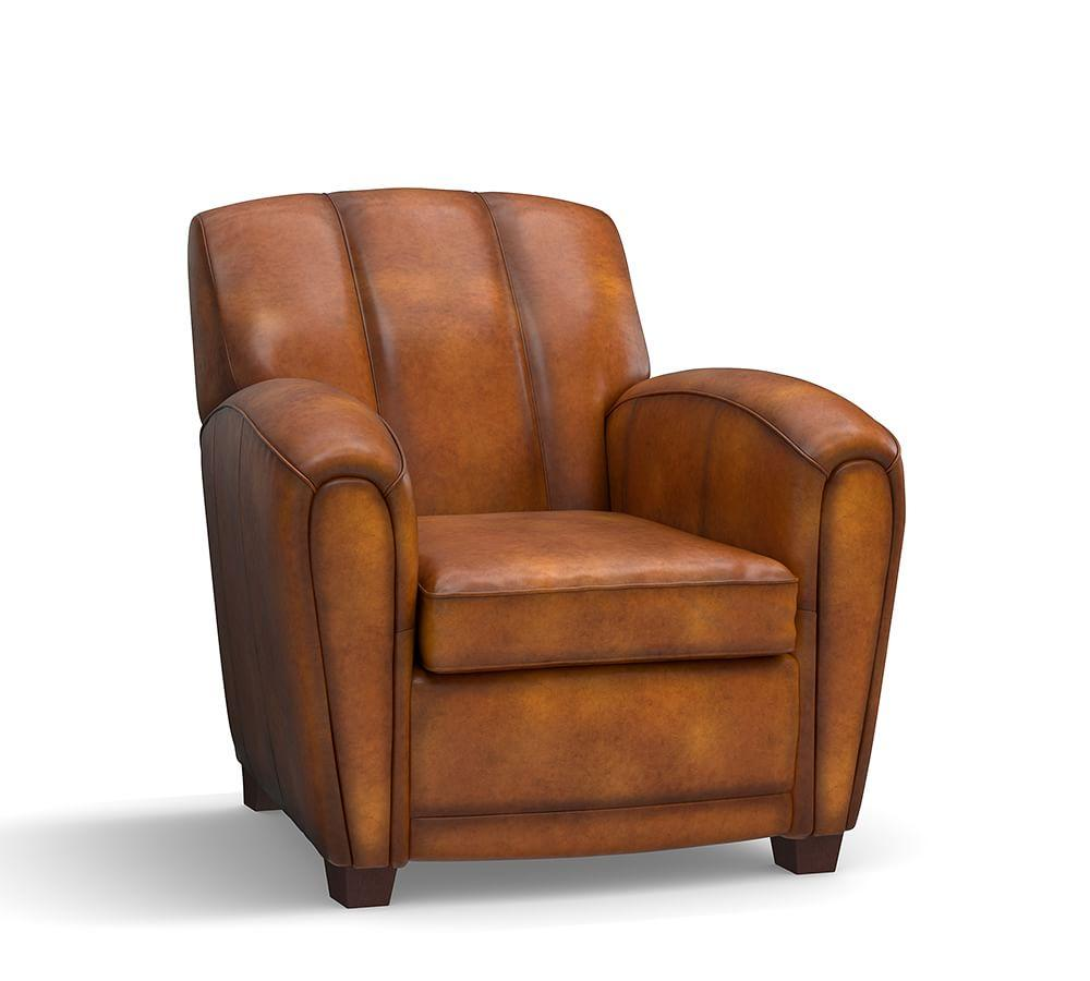 Elliot Leather Armchair Pottery Barn Au