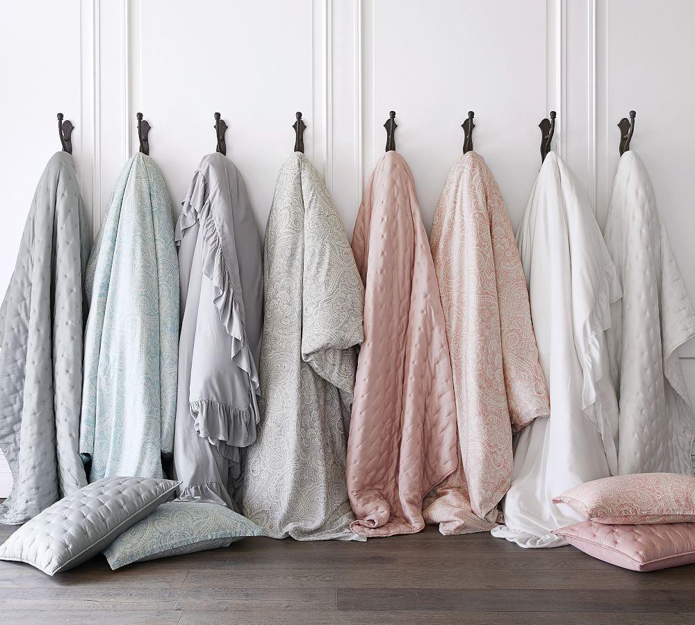Tencel® Ruffle Quilt Cover & Pillowcase - Grey