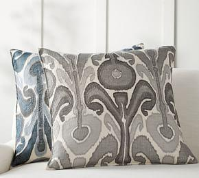 Kenmare Ikat Embroidered Cushion Covers
