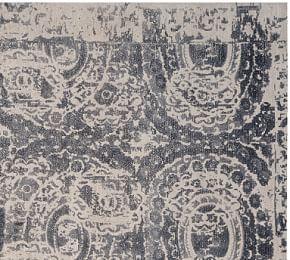 Talia Printed Rug Grey Pottery Barn Au