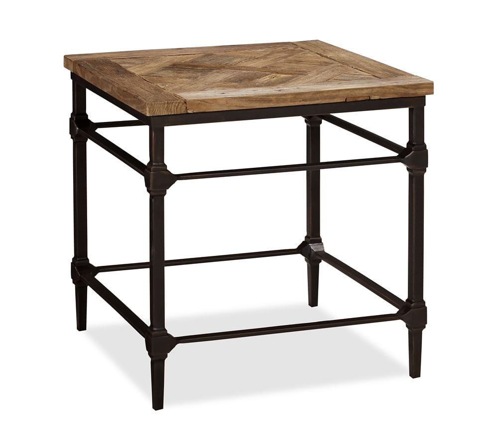Parquet Side Table Pottery Barn Au