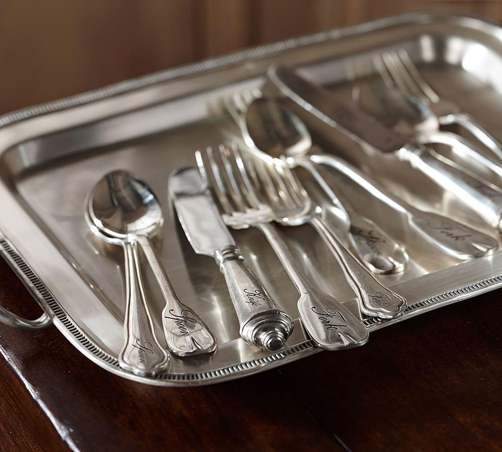 Antique Silver 5-Piece Cutlery Set