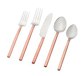 Copper Handled 5-Piece Cutlery Set