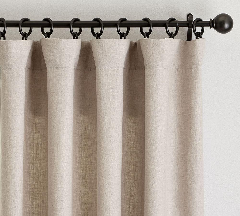 Classic Belgian Flax Linen Curtain - Dark Flax
