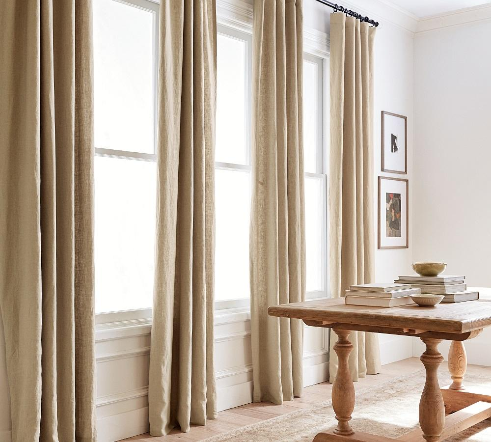 Emery Linen/Cotton Curtain - Oatmeal