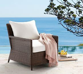 Torrey Patio All-Weather Wicker Occasional Chair, Espresso