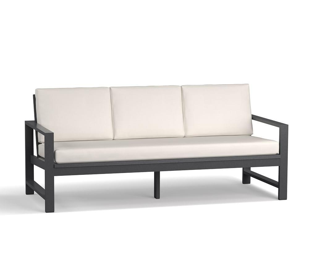 Indio Metal Sofa, Slate