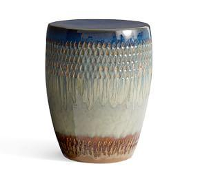 Global Glaze Ceramic Accent Stool
