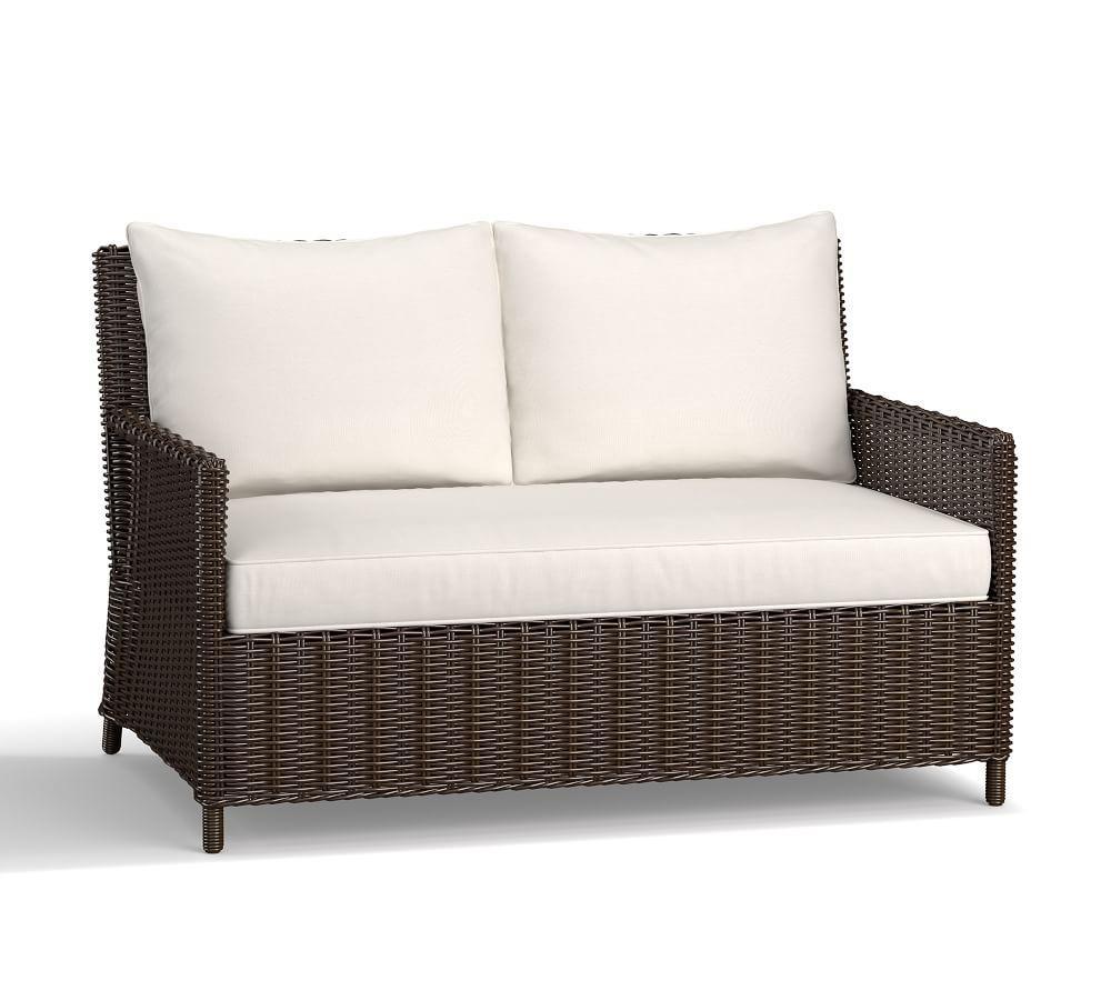Torrey Patio All-Weather Wicker Sofa, Espresso