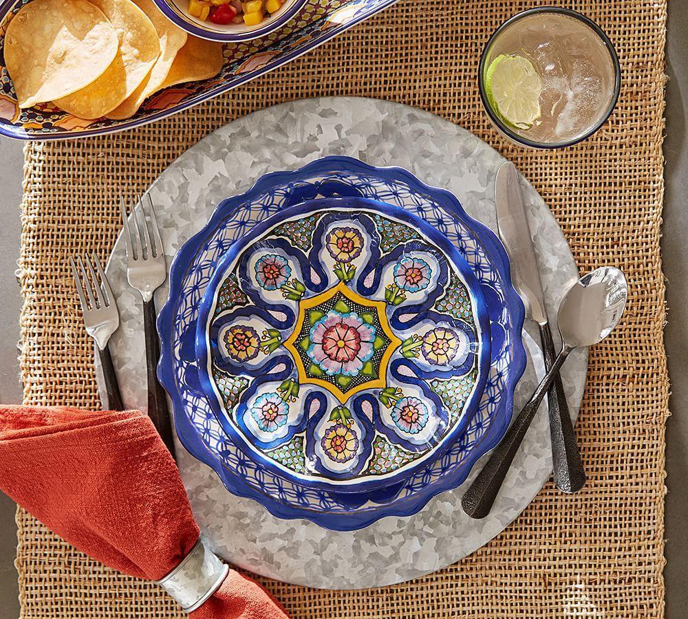 Del Sol Melamine Dinner Plate - Mixed