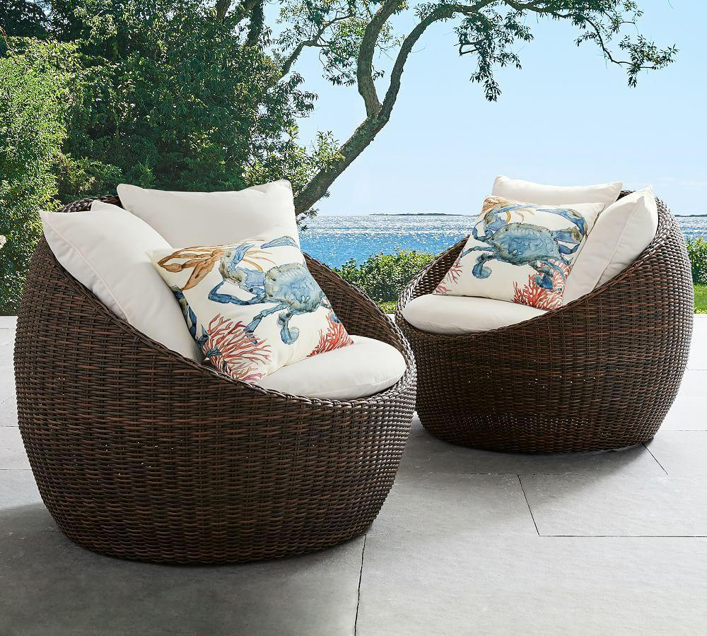 Torrey All Weather Wicker Papasan Chair Espresso