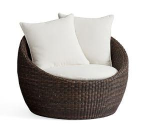 Torrey All-Weather Wicker Papasan Chair - Espresso