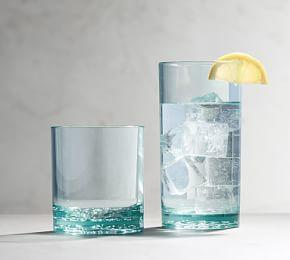 Happy Hour Acrylic Cocktail Glasses - Turquoise