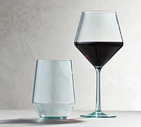Happy Hour Acrylic Wine Glasses - Turquoise