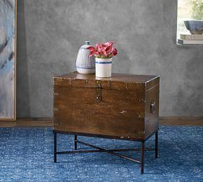 Timor Wood Trunk Accent Table