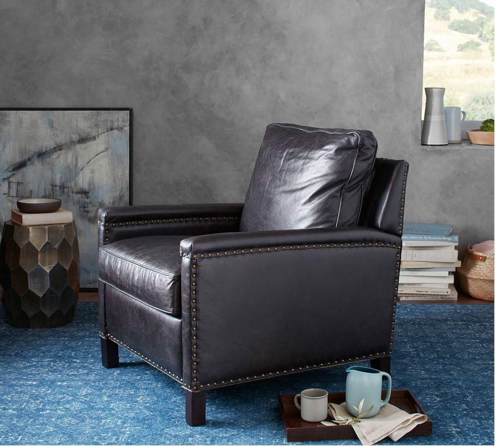 Tyler Leather Recliner Pottery Barn Au