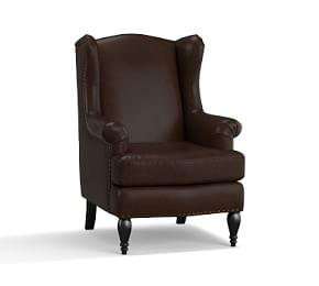 SoMa Delancey Petite Leather Armchair
