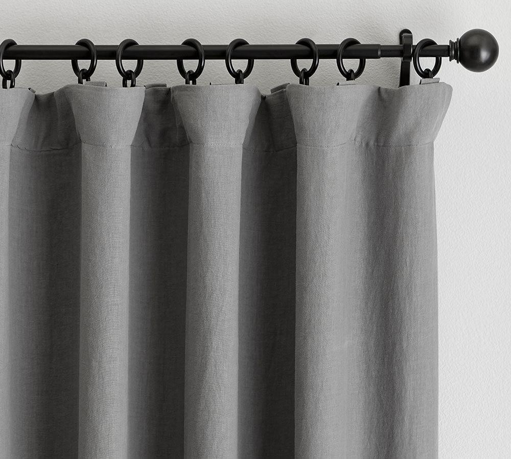 Classic Belgian Flax Linen Curtain - Flagstone