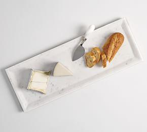 White Marble Long Cheese Board