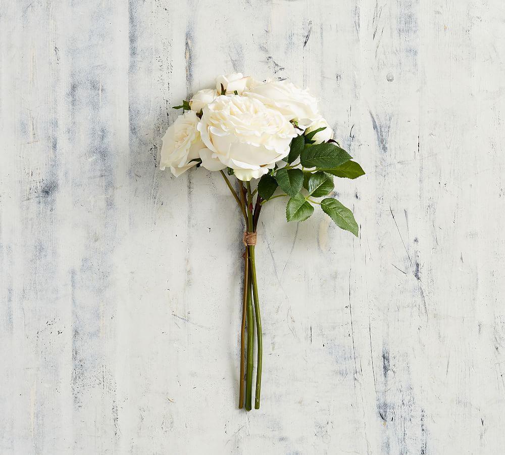 Faux Rose Multi Bundle - White