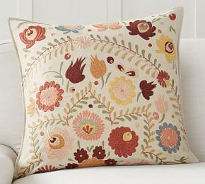 Knowles Embroidered Cushion Cover