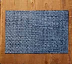 Easy Care Placemat - Blue Textured