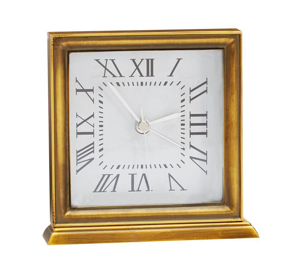 Grayson Square Desktop Clock