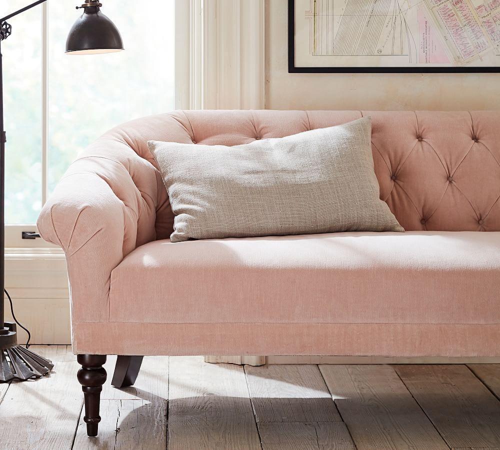 adeline upholstered mini sofa 150 cm pottery barn au. Black Bedroom Furniture Sets. Home Design Ideas