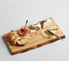 Olive Wood Rustic Edge Cheese Board