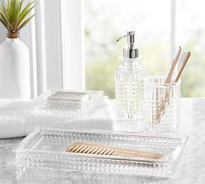 Pressed Glass Bath Accessories