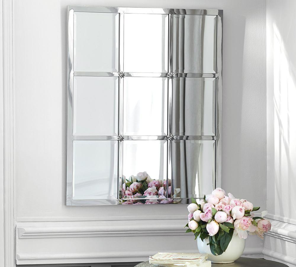 Eagan Silver Multipanel Small Mirror