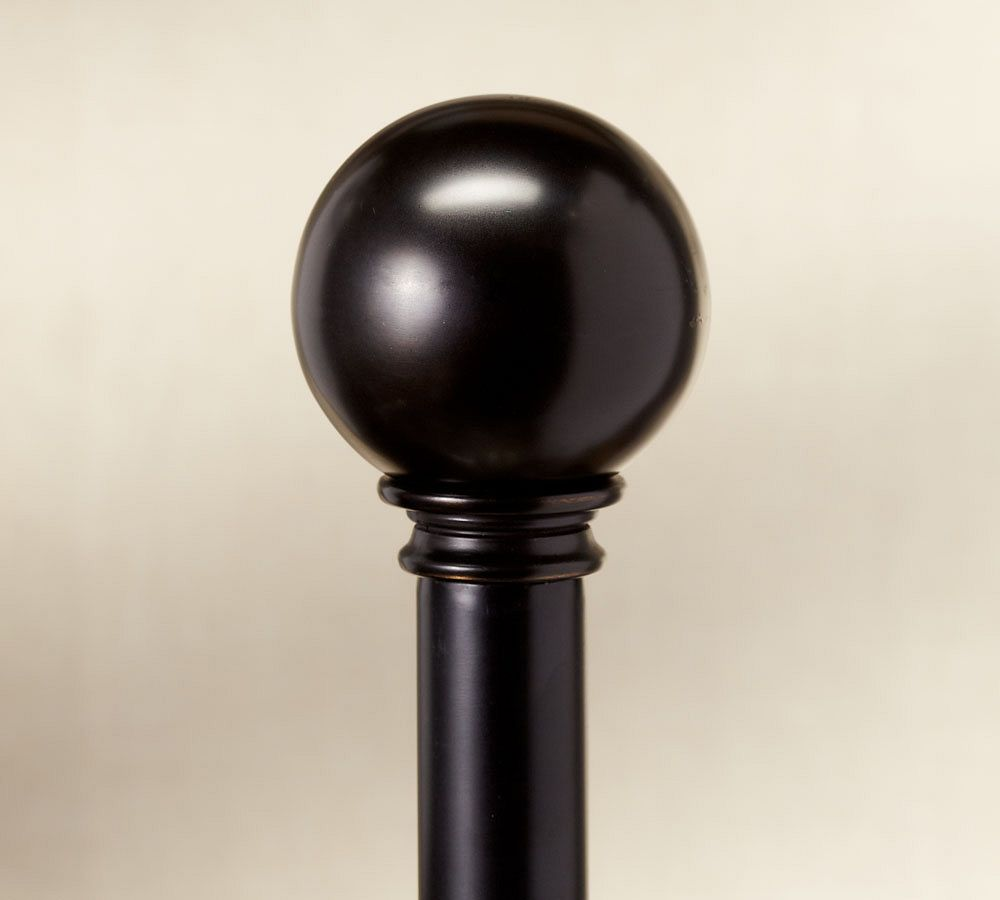 PB Standard Ball Finial & Curtain Rod - Antique Bronze finish