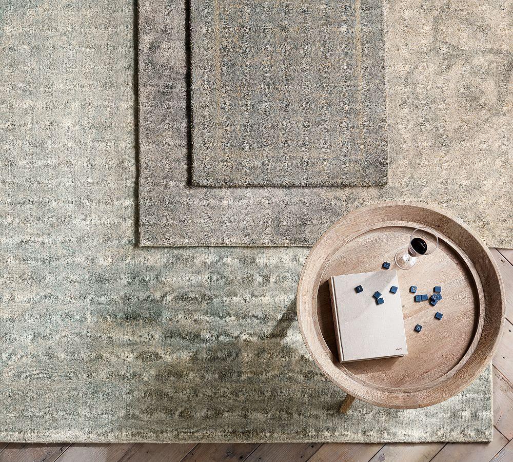 Barret Printed Rug Porcelain Blue Pottery Barn Au