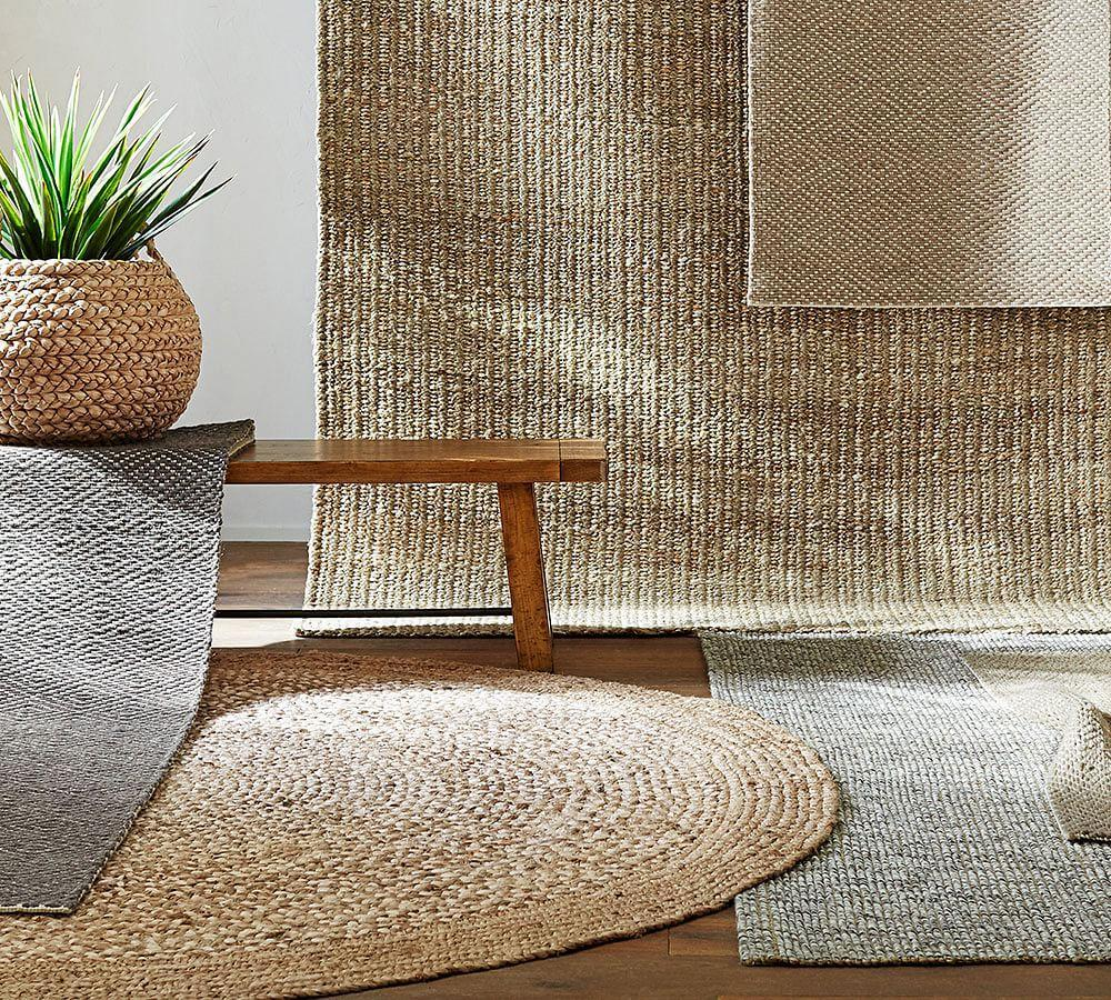 Chunky Wool amp Natural Jute Rug Pottery Barn AU