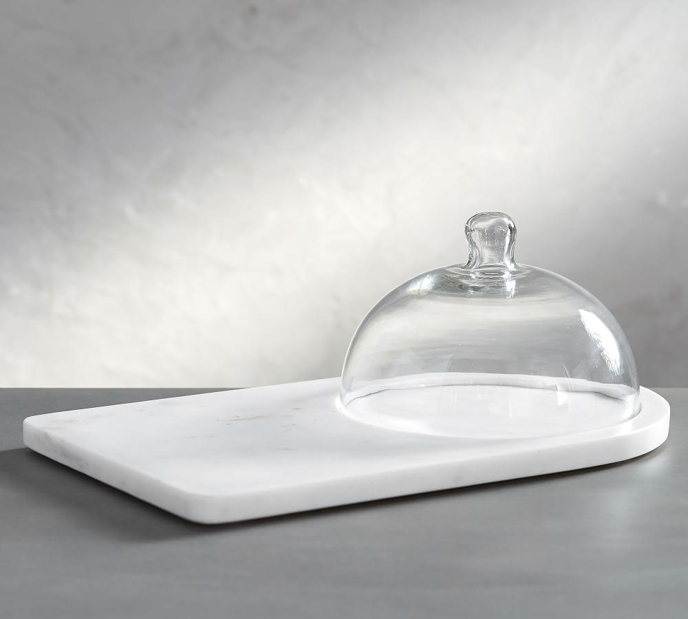 Marble Glass Domed Cheese Board