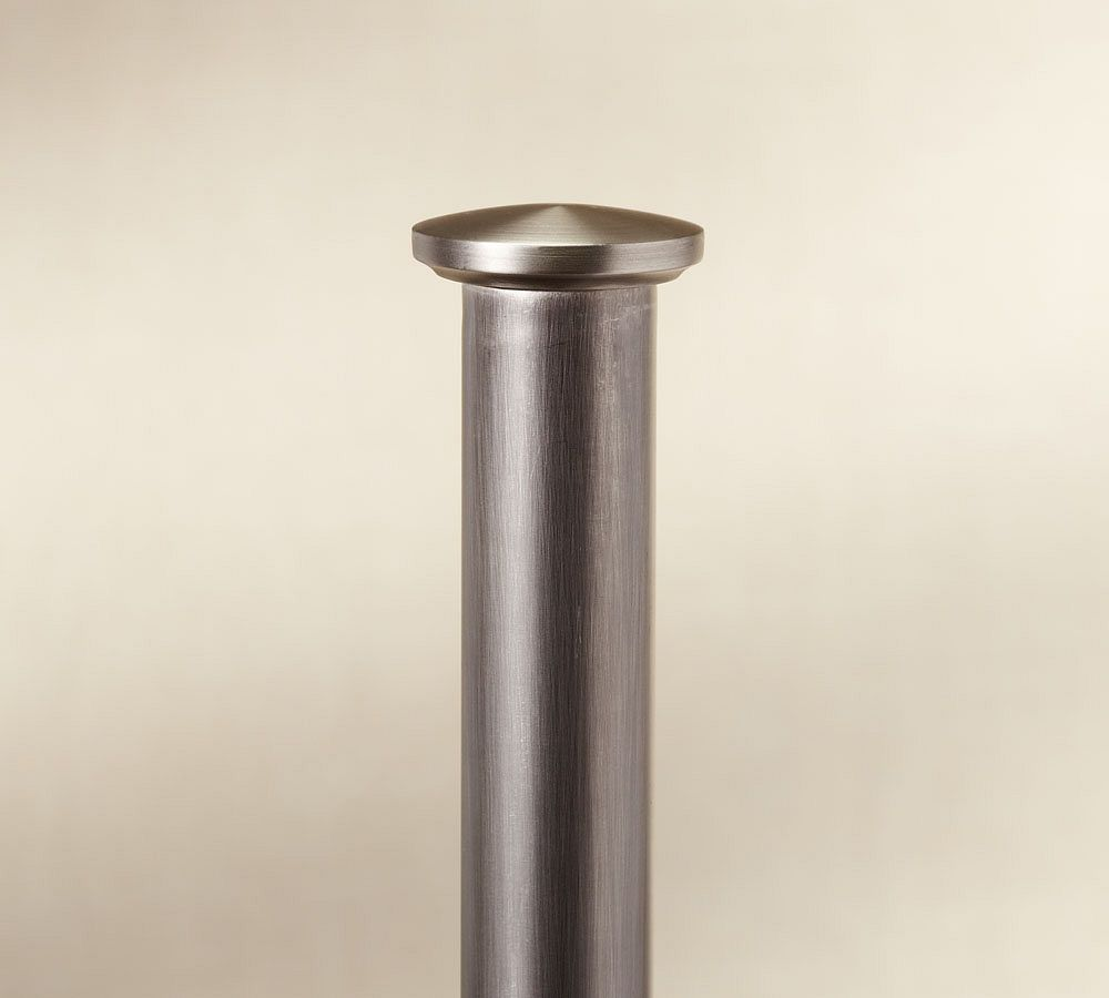 PB Standard Endcap Finial & Curtain Rod - Pewter finish