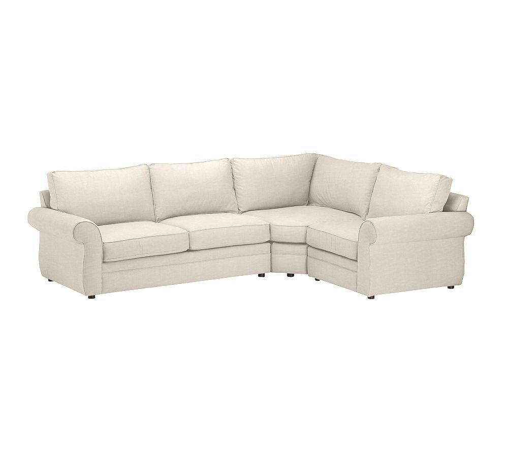 Pottery Barn Pearce: Pearce Upholstered 3-Piece Sectional With Wedge